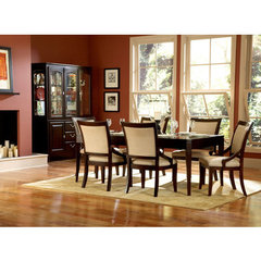 Buy Homelegance Bexley 7 Piece Dining Room Set in Dark Cherry Finish on sale online