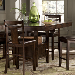 Buy Homelegance Broome 54x43 Extension Counter Height Table in Dark Brown on sale online