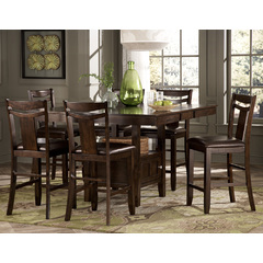 Buy Homelegance Broome 7 Piece 54x43 Counter Height Table Set in Dark Brown on sale online