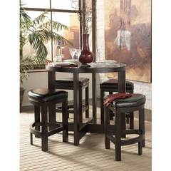 Buy Homelegance Brussel 5 Piece 40 Inch Round Counter Height Dining Set on sale online