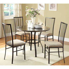 Buy Homelegance Carlson 5 Piece Round 40x40 Dining Room Set in Coffee on sale online