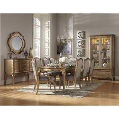 Buy Homelegance Chambord 11 Piece 76x44 Dining Room Set in Antique Gold on sale online