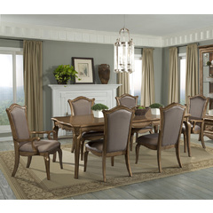 Buy Homelegance Chambord 7 Piece 76x44 Extension Dining Room Set in Antique Gold on sale online