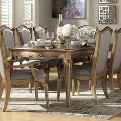 Buy Homelegance Chambord 76x44 Extension Dining Table in Antique Gold on sale online
