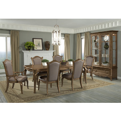 Buy Homelegance Chambord 8 Piece 76x44 Dining Room Set w/ Buffet in Gold on sale online