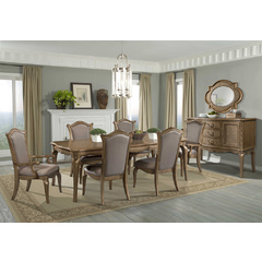 Buy Homelegance Chambord 8 Piece 76x44 Dining Room Set w/ Server in Gold on sale online