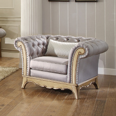 Buy Homelegance Chambord Arm Chair in Opulent Mix of Silver & Gold Hues on sale online