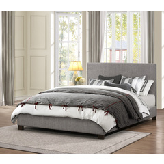 Buy Homelegance Chasin Upholstered Platform Bed in Grey Polyester on sale online