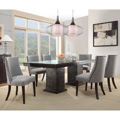 Buy Homelegance Chicago 7 Piece 74x42 Dining Room Set in Deep Espresso on sale online
