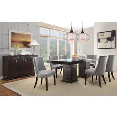 Buy Homelegance Chicago 8 Piece 74x42 Dining Room Set in Deep Espresso on sale online