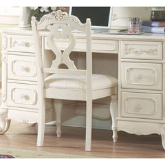 Buy Homelegance Cinderella Writing Desk Chair in White on sale online