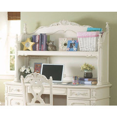 Buy Homelegance Cinderella Writing Desk Hutch in White on sale online