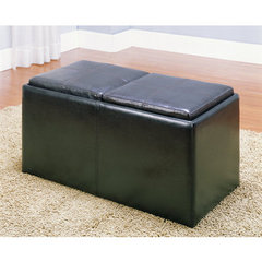 Buy Homelegance 35x18 Inch Clair Bench w/ 2 Ottoman on sale online