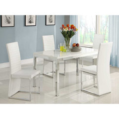 Buy Homelegance Clarice 5 Piece Dining Room Set in Gloss White on sale online