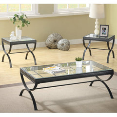 Buy Homelegance Claro 3 Piece Occasional Table Set in Black on sale online