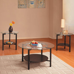 Buy Homelegance Concentric 3 Piece Occasional Table Set in Dark Cherry on sale online