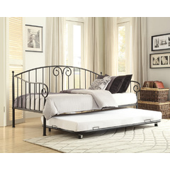 Buy Homelegance Courtney Metal Daybed w/Trundle in Black on sale online