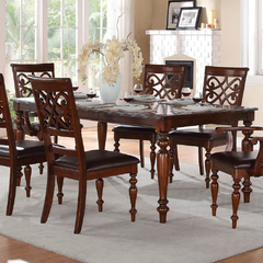 Buy Homelegance Creswell 60x42 Extension Dining Table in Cherry on sale online