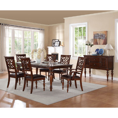Buy Homelegance Creswell 8 Piece 60x42 Extension Dining Room Set in Cherry on sale online