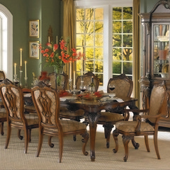 Buy Homelegance Cromwell 7 Piece 76x44 Dining Room Set in Cherry on sale online
