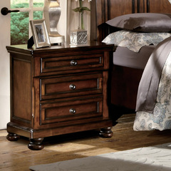 Buy Homelegance Cumberland 3 Drawer Nightstand in Rich Medium Brown on sale online