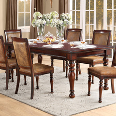 Buy Homelegance Cumberland 70x42 Extension Dining Table in Rich Medium Brown  on sale online