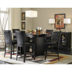 Buy Homelegance Daisy 7 Piece Counter Height Set in Dark Brown on sale online
