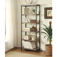 Buy Homelegance Daria 26 Inch Bookcase w/ Grey Weathered Wood Shelves on sale online