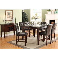 Buy Homelegance Decatur 7 Piece 54x54 Counter Height Set in Espresso on sale online