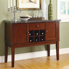 Buy Homelegance Decatur Marble Top Server in Espresso on sale online