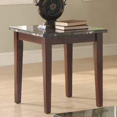 Buy Homelegance Decatur Rectangular 24x22 Marble Top End Table in Rich Cherry on sale online