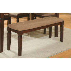 Buy Homelegance 44x17 Inch Devlin Transitional Bench in Espresso on sale online