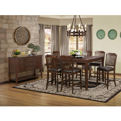 Buy Homelegance Dickens 8 Piece 54x36 Counter Height Set in Brown Cherry on sale online