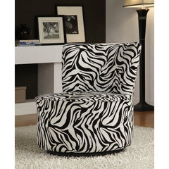 Buy Homelegance Easton 488F6S Swivel Lounge Chair in Wild Zebra on sale online