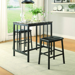 Buy Homelegance Edgar 3 Piece 32x24 Counter Height Set in Black on sale online