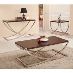 Buy Homelegance Eris 3 Piece Occasional Table Set in Warm Cherry on sale online