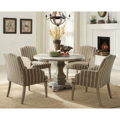 Buy Homelegance Euro Casual 5 Piece 48x48 Dining Room Set in Rustic Weathered on sale online