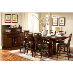 Buy Homelegance Everett 9 Piece Counter Height Set in Cherry on sale online