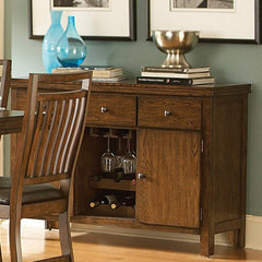 Buy Homelegance Everett Server in Medium Oak on sale online