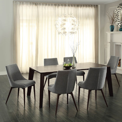 Buy Homelegance Fillmore 7 Piece 76x44 Dining Room Set in Espresso on sale online
