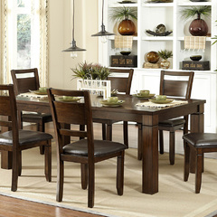 Buy Homelegance Finnian 60x42 Extension Dining Table in Warm Walnut on sale online