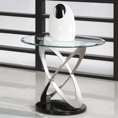 Buy Homelegance Firth 26 Inch Round End Table in Chrome on sale online