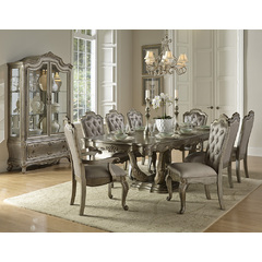 Buy Homelegance Florentina 10 Piece 84x44 Dining Room Set in Taupe Rich Silver on sale online