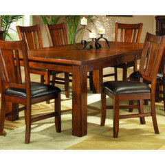 Buy Homelegance Fusion 60x42 Rectangular Dining Table in Burnish Dark Oak on sale online