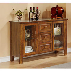 Buy Homelegance Fusion Server w/ Glass Door in Burnish Dark Oak on sale online