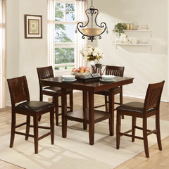Buy Homelegance Galena 5 Piece 40x40 Counter Height Table Set in Warm Cherry on sale online