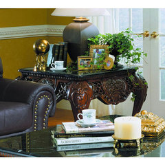 Buy Homelegance Gladstone 38x38 End Table w/ Black Marble on sale online