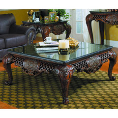 Buy Homelegance Gladstone 51x51 Cocktail Table w/ Black Marble on sale online