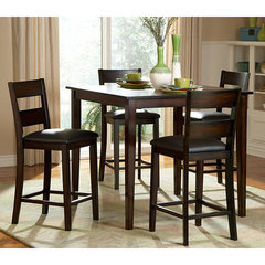 Buy Griffin 5 Piece 40 Inch Square Counter Height Set in Espresso on sale online