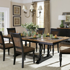 Buy Homelegance Grisoni 72x40 Extension Dining Table in Distress Black on sale online